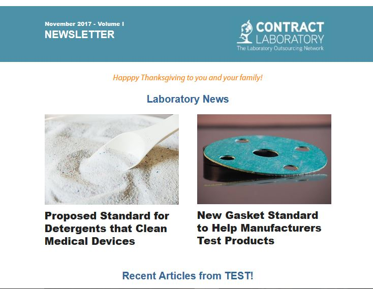 Contract Laboratory Newsletter